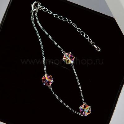 Браслет Миражи с кристаллами-хамелеонами Swarovski