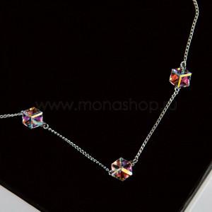 Колье «Миражи» с кристаллами-хамелеонами Swarovski