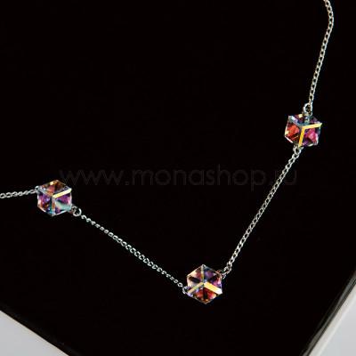 Колье Миражи с кристаллами-хамелеонами Swarovski