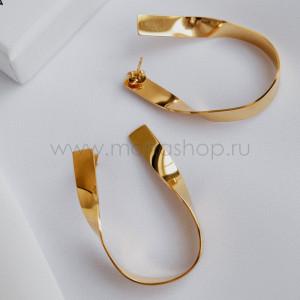 Серьги Золотые петли без камней